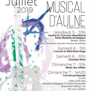 36e édition du Juillet Musical d'Aulne