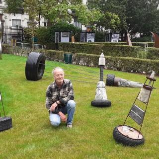 Sculptures temporaires au square Armand Steurs