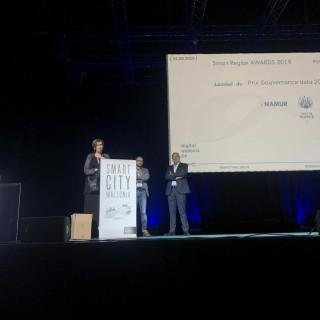La Ville de Namur reçoit le Prix Gouvernance Data 2019