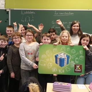 Knauf Shopping récompense l'école communale de Samrée!